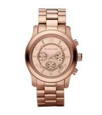 Michael Kors Runway Oversized Rose Gold Tone Watch