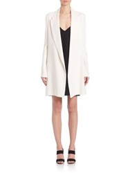 The Row Russo Long Tuxedo Jacket Ivory