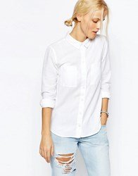 Asos Fitted Shirt In Twill White