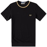 Fred Perry Reissues Pique Crew Tee Black