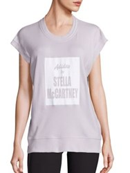 Adidas By Stella Mccartney Relaxed Fit Yoga Tee Grey