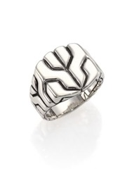 John Hardy Classic Chain Sterling Silver Square Ring