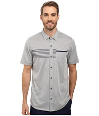 Travis Mathew Beale Polo Quiet Shade Men's Clothing Gray