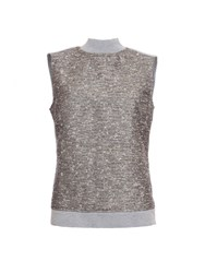 Garcia Sleeveless Roll Neck Jumper Grey