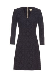 Burberry Talitha Broderie Anglaise Dress Navy