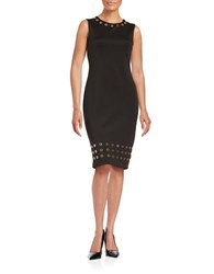 Calvin Klein Embellished Shift Dress Black