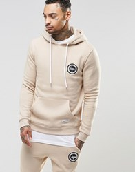 Hype Hoodie With Crest Logo Sand Beige