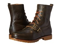 Polo Ralph Lauren Ranger Deep Olive Smooth Oil Leather Men's Lace Up Boots Brown