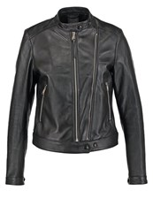 Replay Leather Jacket Black