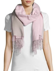 Lord And Taylor Reversible Fringed Wrap Or Scarf Pink