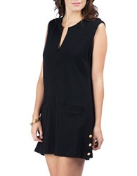 Lauren Ralph Lauren Button Cover Up Tunic Black