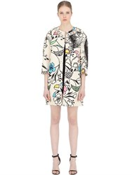 Maurizio Pecoraro Printed And Embellished Silk Blend Coat