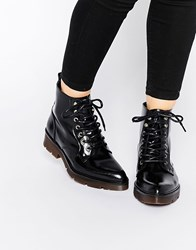 Bronx Chunky Lace Up Ankle Boots Black