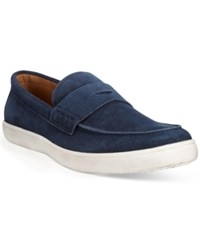 Alfani Tate Hybrid Penny Loafers Only At Macy's Men's Shoes Blue