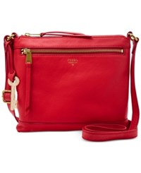 Fossil Gifting Leather Crossbody Real Red