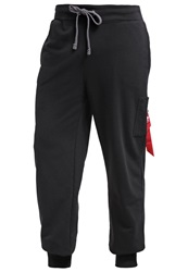 Alpha Industries X Fit Tracksuit Bottoms Black