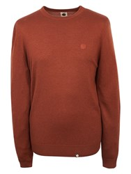 Pretty Green Mosely Crew Neck Jumper Spice