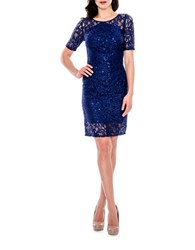 Decode 1.8 Sequined Lace Dress Royal