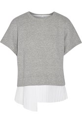 10 Crosby By Derek Lam Layered Cotton Top Gray