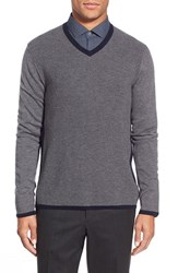 Men's Zachary Prell 'Edgware Road' Two Tone Wool Blend V Neck Sweater
