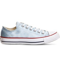 Converse All Star Low Top Canvas Trainers Polar Blue Sheenwash