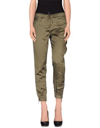 Trussardi Jeans Trousers Casual Trousers Women Military Green