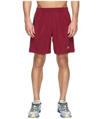 New Balance 7 Stretch Woven Short Sedona Black Men's Shorts Red