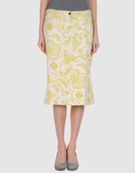 Caractere Aria 3 4 Length Skirts Ivory