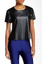American Apparel Vegan Leather Tee Black