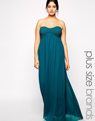 Truly You Bandeau Grecian Maxi Dress Teal