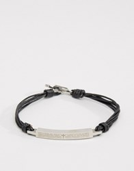 Seven London Band Cross Bracelet Exclusive To Asos Silver
