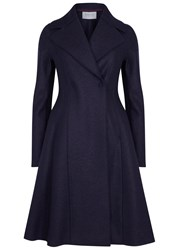 Harris Wharf London Navy Flared Wool Coat