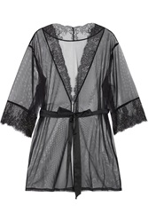 Grace Lace Trimmed Stretch Tulle Robe L'agent By Agent Provocateur