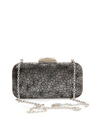 Big Buddha Vika Printed Clutch Pewter