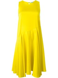 P.A.R.O.S.H. Flared Sleeveless Dress Yellow And Orange