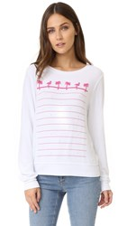 Wildfox Couture Animal Style Baggy Beach Sweatshirt Clean White