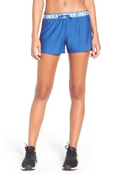Under Armour Women's 'Play Up' Track Shorts Heron Heron Midnight Navy