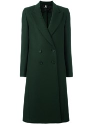 Paul Smith Ps By Peaked Lapel Mid Coat Green