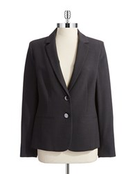 Anne Klein Two Button Blazer Charcoal