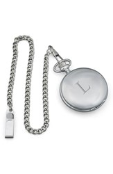 Cathy's Concepts Silver Plate Personalized Pocket Watch L