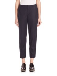 Set Cropped Wool Blend Trousers