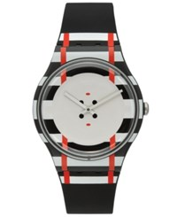 Swatch Unisex Swiss Es War Einmal Black Silicone Strap Watch 41Mm Suob129 Multi