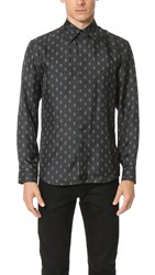Marc Jacobs Double J Silk Twill Shirt Pirate Black