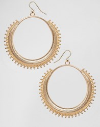 Missguided Festival Hoop Earrings Gold