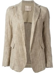 Erika Cavallini Open Front Blazer Nude And Neutrals