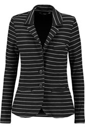 Tart Collections Striped Stretch Modal Jersey Blazer Black