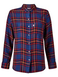 Levi's Sidney Boyfriend Check Shirt Paprika Original Plaid