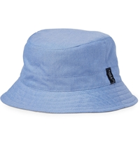 Lock And Co Hatters Reversible Cotton Bucket Hat Blue