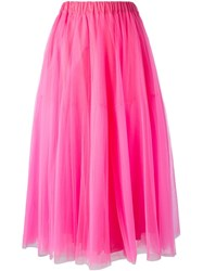 P.A.R.O.S.H. Long Tulle Skirt Pink And Purple