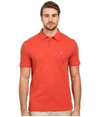 John Varvatos Soft Collar Peace Polo K1381s1b Brick Red Men's Short Sleeve Pullover